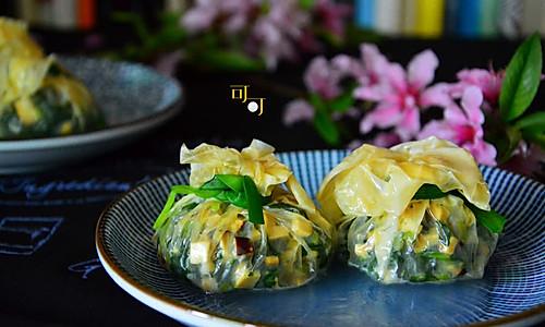 素菜福袋:福袋一二三的做法