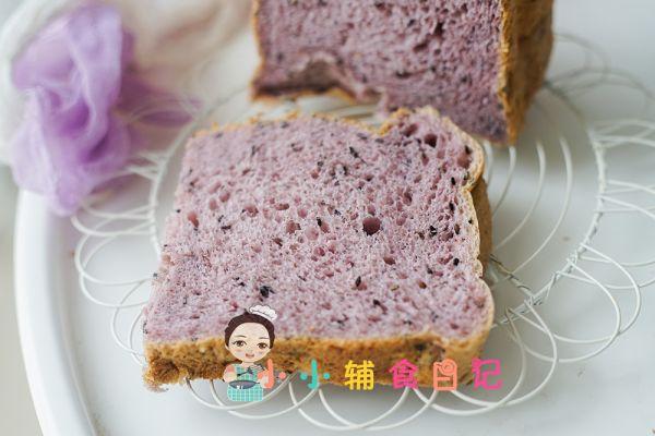 12个月以上低糖紫薯吐司的做法
