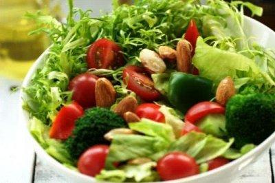 满园春色关不住-----杏仁蔬菜沙拉