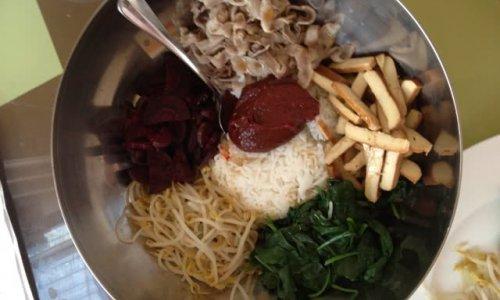 超简易版韩国拌饭的做法