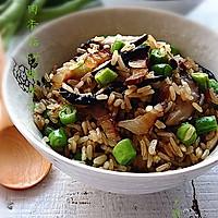 腊肉香菇炒糙米饭#美的初心电饭煲#的做法图解13