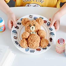 可爱的泰迪熊饭团