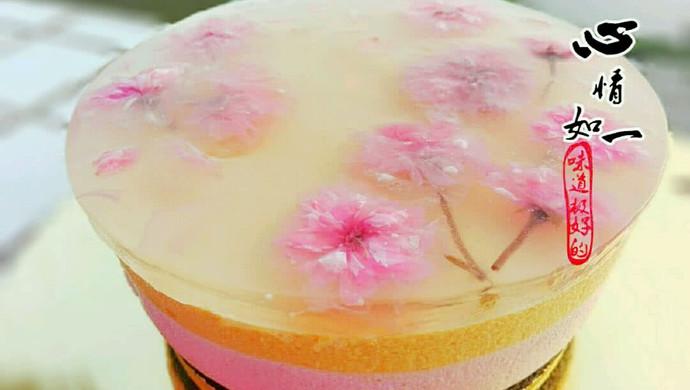 樱花水果慕斯蛋糕