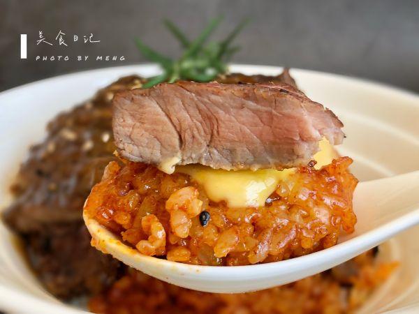 剩米饭花样吃法丨一口满满幸福感㊙️芝士牛排饭