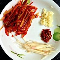 韭菜花炒肉丝的做法图解2