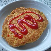 饱腹又简单的鸡蛋燕麦饼