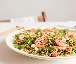 节气美食减肥版 | 小满谦卑,番茄味苦菊拌虾仁,低卡轻食的做法