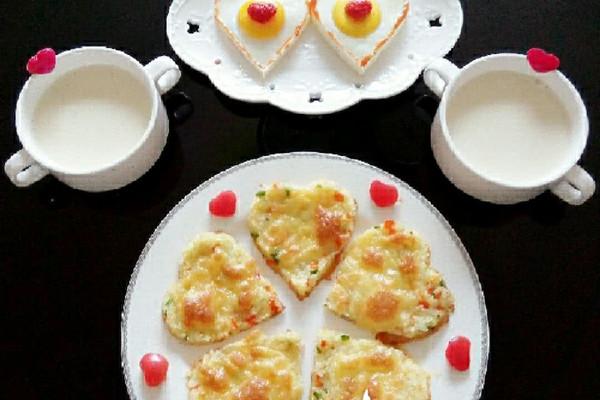 情人节早餐【心相印】的做法
