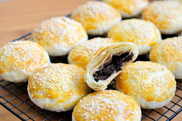 红豆沙千层酥 国庆中秋双节伴手礼不只有月饼 没蛋黄的蛋黄酥的做法