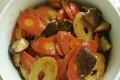 香菇胡萝卜面筋