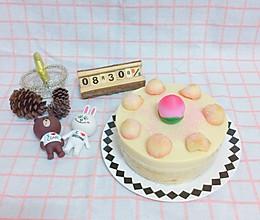 桃子慕斯芒果果凍夾心蛋糕的做法