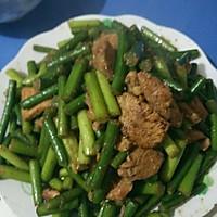 蒜苔炒肉的做法图解6