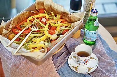 烤箱菜|超简单烤蔬菜,无油烟、食材随意放