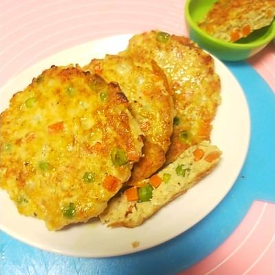 减脂增肌餐~蔬菜鸡肉饼(100克/92卡)