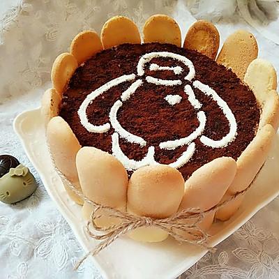 大白暖心蛋糕