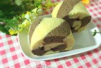 可可双色蛋糕卷#蔡澜的花花世界#的做法