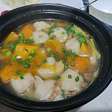 南瓜虾滑汤