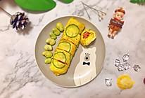 ㊙️传统日式料理改良版--芝士火腿厚蛋烧的做法