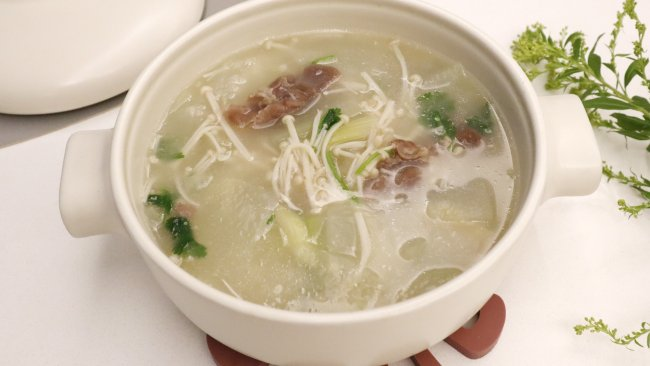 冬瓜羊肉金针菇汤的做法