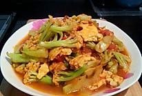 鲜、香中透着淡淡的麻、辣  #西红柿鸡蛋炒有机菜花#的做法