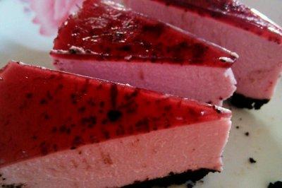 免烤蓝莓紫薯冻芝士蛋糕