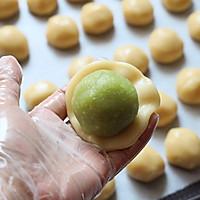 斑斓椰蓉和抹茶红豆馅月饼的做法图解13