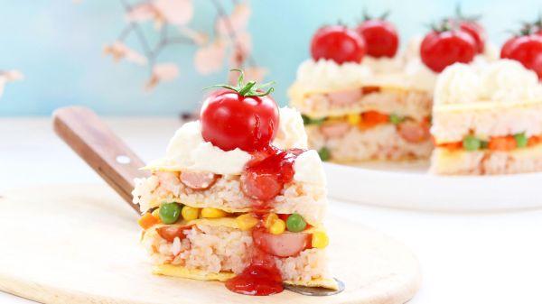 千层饭蛋糕的做法