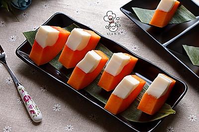 木瓜牛奶冻#夏日时光#
