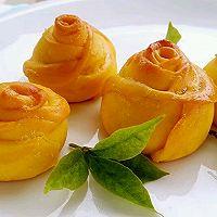 李孃孃爱厨房之——南瓜玫瑰花面包