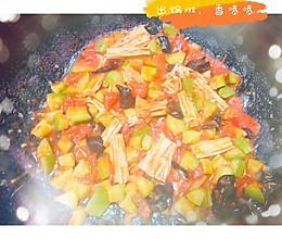 健康少油~素炒西葫芦炒番茄的做法
