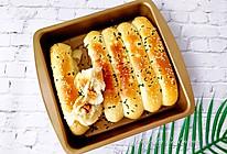 美味咸口葱香肉松排包的做法
