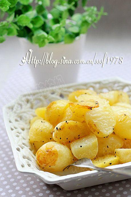 黑椒橄榄油烤小土豆的做法