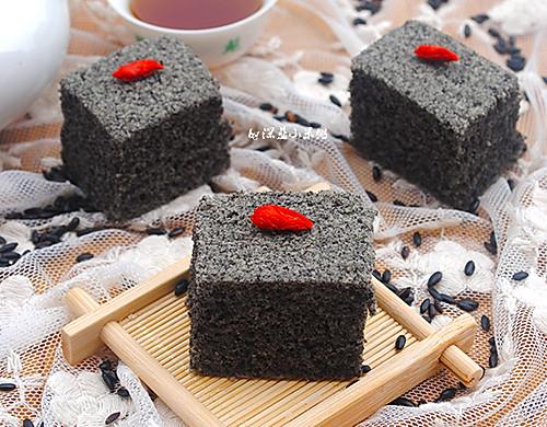 蒸黑米糯米糕#自己做更健康#