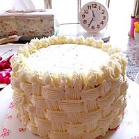 6寸水果奶油花篮裱花蛋糕(附戚风蛋糕制作)的做法图解25
