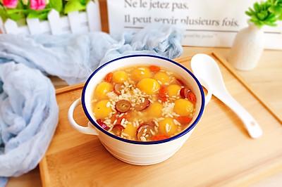 南瓜酒酿汤圆