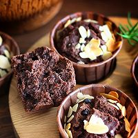 #爱好组-低筋#巧克力杏仁马芬的做法图解12