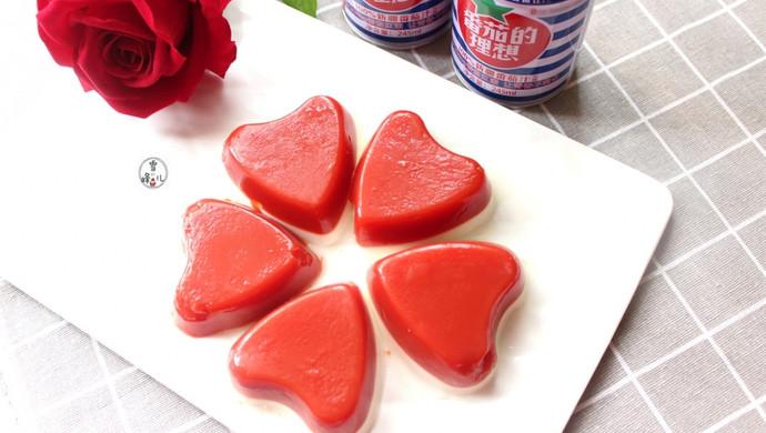 番茄汁双色果冻