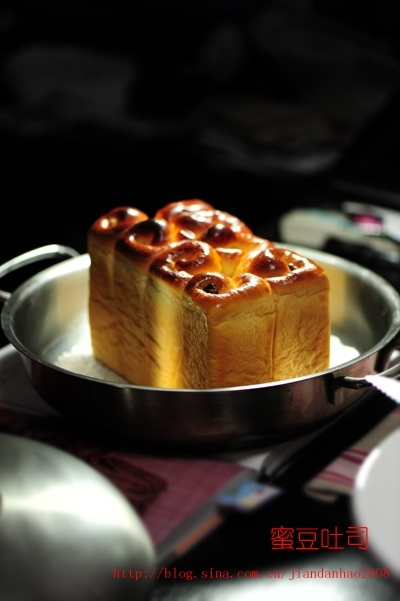 蜜豆吐司的做法