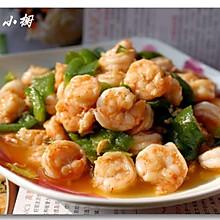 虾仁炒青椒