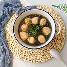 #做道懒人菜,轻松享假期#虾丸紫菜汤