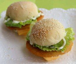 营养早餐 芝士鸡腿汉堡的做法