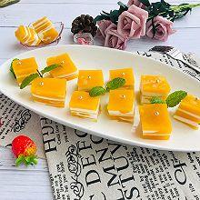 #花10分钟,做一道菜!#芒果椰奶冻千层糕