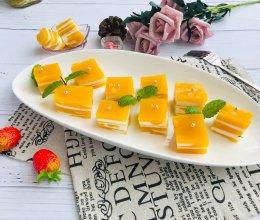 #花10分钟,做一道菜!#芒果椰奶冻千层糕的做法