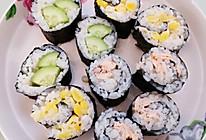 简易寿司(玉米黄瓜三文鱼)的做法