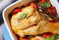 罗勒番茄烤鸡腿的做法
