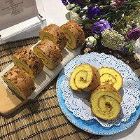【蓓妈美食】香葱肉松蛋糕卷的做法图解20