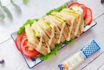 自制全麦鸡蛋火腿三明治的做法