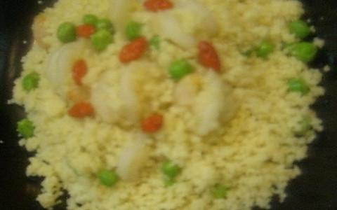 阿拉伯美食——虾仁古斯古斯 的做法