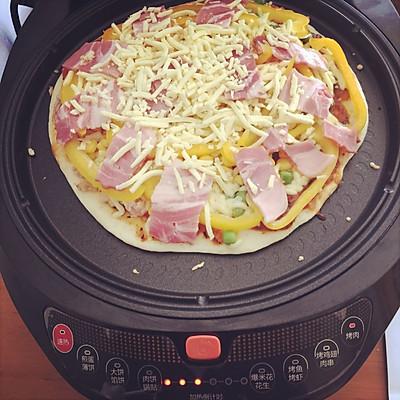利仁电饼铛试用——海陆双拼披萨(附薄饼底与披萨酱制作)的做法 步骤13