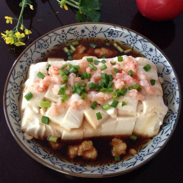 虾茸蒸豆腐